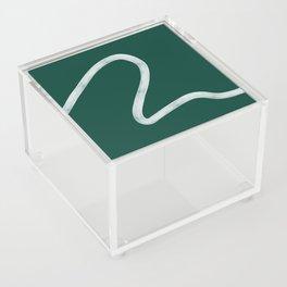 Kinda Wave in Emerald Acrylic Box