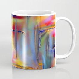 Mirrored Metallic Tile Fire Colors Coffee Mug