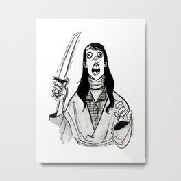 Inktober: Mrs. Torrance Metal Print