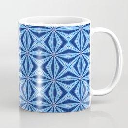 Blue X Pattern Coffee Mug
