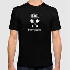 Travel  X-LARGE Black Mens Fitted Tee