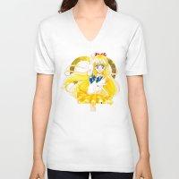 sailor venus V-neck T-shirts featuring Eternal Sailor Venus by Yue Graphic Design