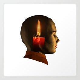 soul, human spirit, inner light Art Print