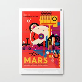 Fantasy Tour of Mars Metal Print