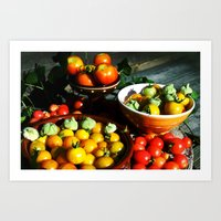 Yellow and red tomatoes II Art Print