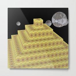 Pyramide Grotesque 24 Metal Print