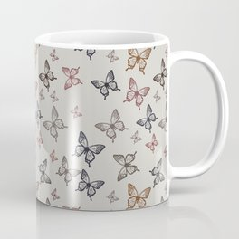 Butterfly kisses repeating pattern Coffee Mug
