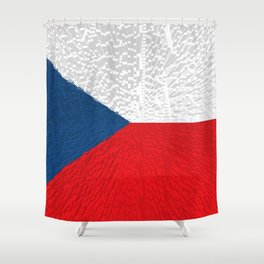 Extruded flag of the Czech Republic Shower Curtain