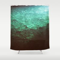 pool Shower Curtains featuring Pool by Dulcinee