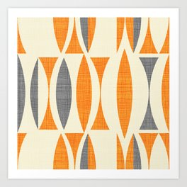 Seventies  orange Art Print