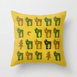 Woodragons Pattern Throw Pillow