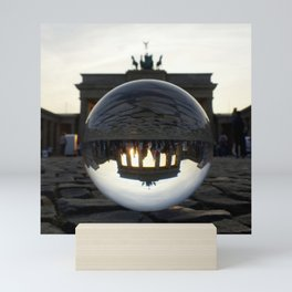 Brandenburg Gate, Berlin Germany / Glass Ball Photography Mini Art Print