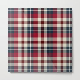 Holiday Plaid 25 Metal Print