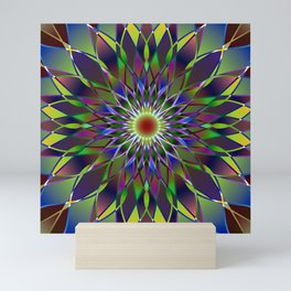 Kaleidoscope mandala Mini Art Print