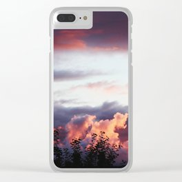Sunset clouds Clear iPhone Case