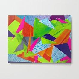 Tumbling Neon Metal Print