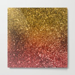 Ombre glitter #1 Metal Print