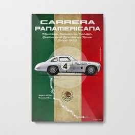 Panamericana Vintage 300SL Metal Print