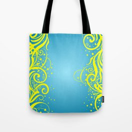 Abstract blue-yellow background Tote Bag