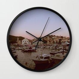 Croatian Harbour Wall Clock