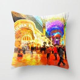 Fremont Street Experience Las Vegas Throw Pillow