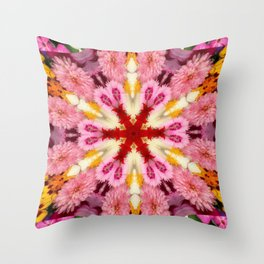 A Star in The Flowers Throw Pillow