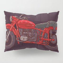 red vintage motorcycle Pillow Sham
