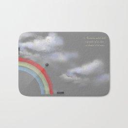 A quarter rainbow Bath Mat