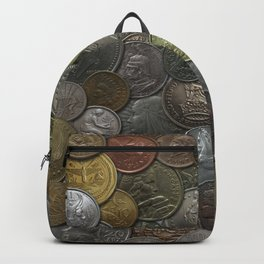 Antique World Coins Backpack