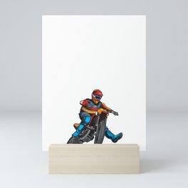 When in Doubt Throttle It Out Motocross Dirt Bike Racing Mini Art Print