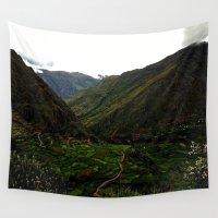 peru Wall Tapestries featuring Rural Peru by miranda stein