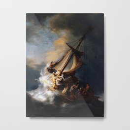Rembrandt - The Storm on the Sea of Galilee Metal Print
