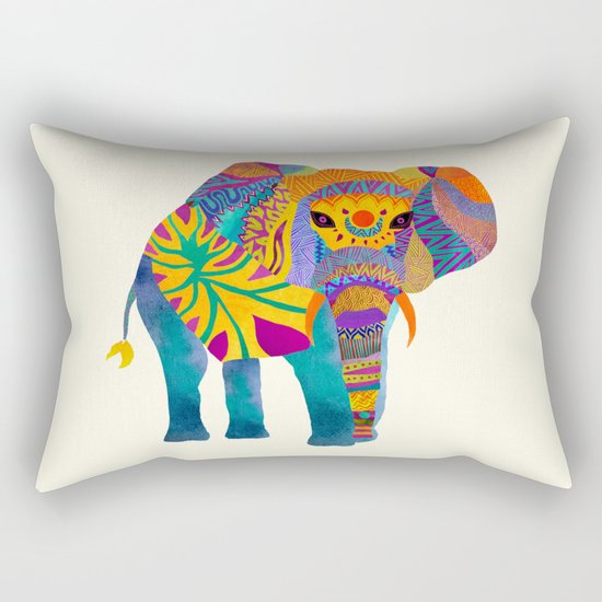 Whimsical Elephant Rectangular Pillow