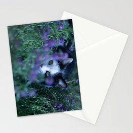 Just another kitty among the flowers Stationery Cards