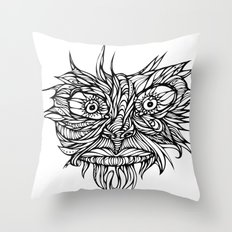 Face Flow Line Throw Pillow
