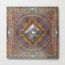 Diamond Cut Steel Metal Print