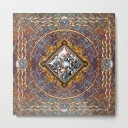 Diamond Cut Steel Metal Print