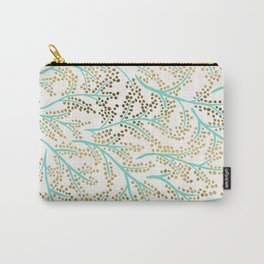 Branches – Mint & Gold Palette Carry-All Pouch