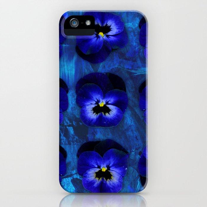 Deep Blue Velvet iPhone Case