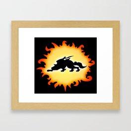 Amaterasu Logo- Black Framed Art Print