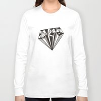 diamond Long Sleeve T-shirts featuring Diamond by Galitt