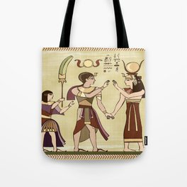 Calling to the Gods Egyptian Folk Art Tote Bag