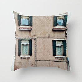 Venetian Windows Throw Pillow