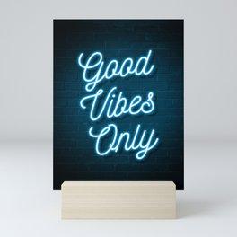 Good Vibes Only - Neon Mini Art Print