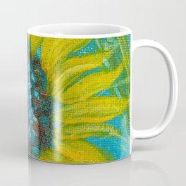 Sunflowers on Turquoise II Coffee Mug