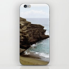 Green Sand Beach iPhone Skin