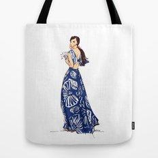 Vintage Hawaiian Print Girl Fashion Illustration  Tote Bag