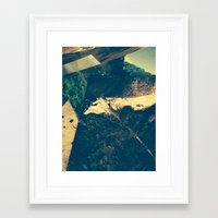 parks Framed Art Prints featuring Parks Pile by Cameron Waff