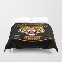 community Duvet Covers featuring El Tigre Chino community by Buby87