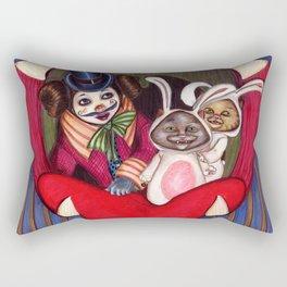 Bella and cats Rectangular Pillow
